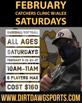 Catchers Baseball/Softball Clinic w/Alex Feb