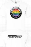T-Shirt Stonewall Greensboro Pride - White