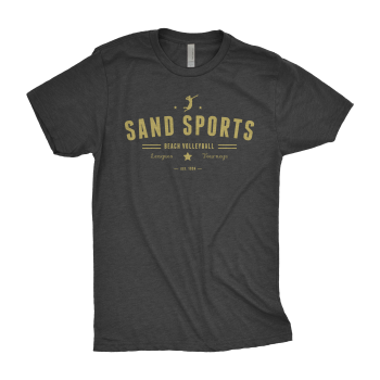 Sand Sports Men's Black Tee