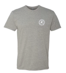 Custom ELEV8 Lacrosse Crew Neck Grey T-Shirt