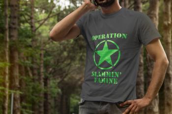 OSF Tee / Gray with Lime Print