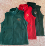 Women's Polar Fleece Vest (Red) - S