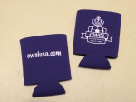Purple CWSL logo koozie