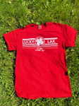 Lucky Lax T-Shirt   Lined Logo (Medium)
