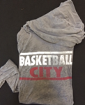 Basketball City Block Letter Light Hoodie