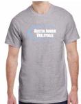 2019 Girls' Practice T-Shirt Grey (Baby Blue Logo)