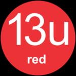 13u Red logo