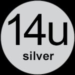 14u Silver logo