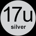 17u Silver logo