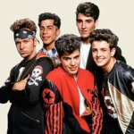 New Kids on the Block (had a bunch of hits)-Black logo