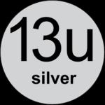 13u Silver logo
