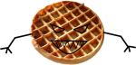 Awful Waffles (Red) logo