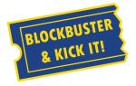 Blockbuster and kick it! logo
