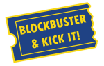 Blockbuster and Kick it! logo