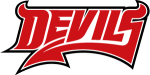 Downtown Devils(Red-White Text) logo