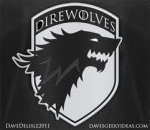 The District Direwolves (Royal Blue) logo