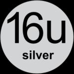 16u Silver logo