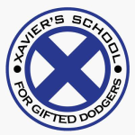 Xavier's School for Gifted Dodgers logo