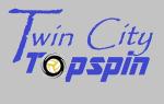 Twin City Topspin (Heather Navy) logo