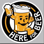 Here for Beer logo